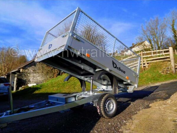 Debon PW0 1500 Lux Tipper Trailer with Mesh Side Extensions