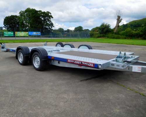 C4 Blue Car Transport Trailer - 126-2323