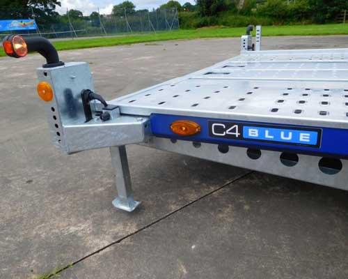 C4 Blue Car Transport Trailer - 126-2323
